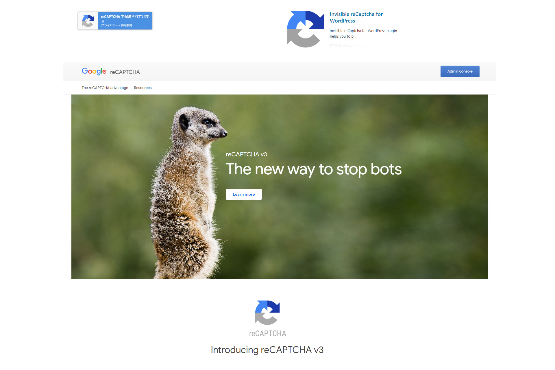 Google reCaptcha 登録 / WordPressカスタマイズ